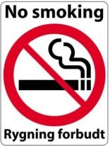 Rygning Forbudt skilt - No smoking