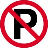 P forbudsskilt