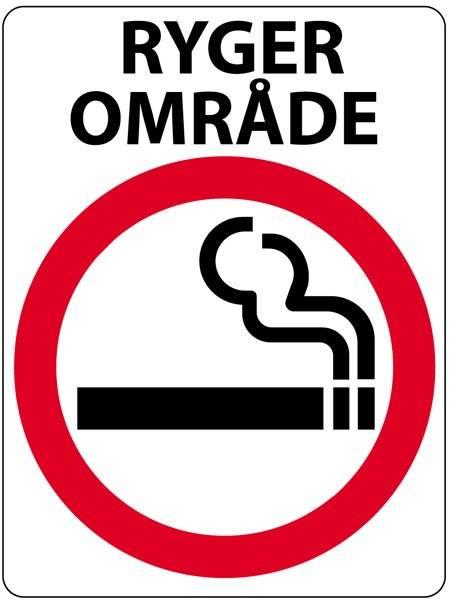 Ryger område. Forbudsskilt