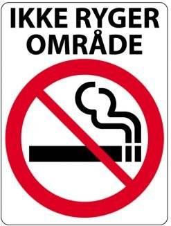 Ryge Forbudsskilt - Ikke ryger område