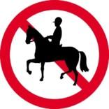 Rideforbud skilt