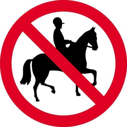 Rideforbuds skilt