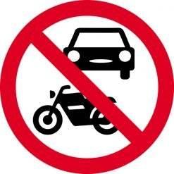 Motorkørsel forbudt. skilt