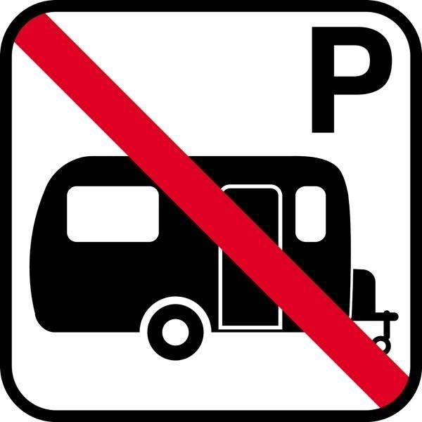 Campingvogns forbud skilt m P - piktogram