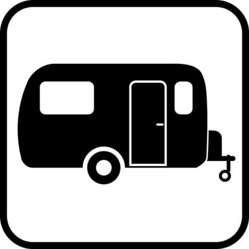 Campingvogn skilt  - piktogram