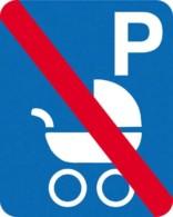 Parkerings skilt P barnevogne forbudt skilt