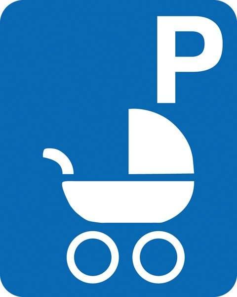 Parkerings skilt P barnevogne skilt