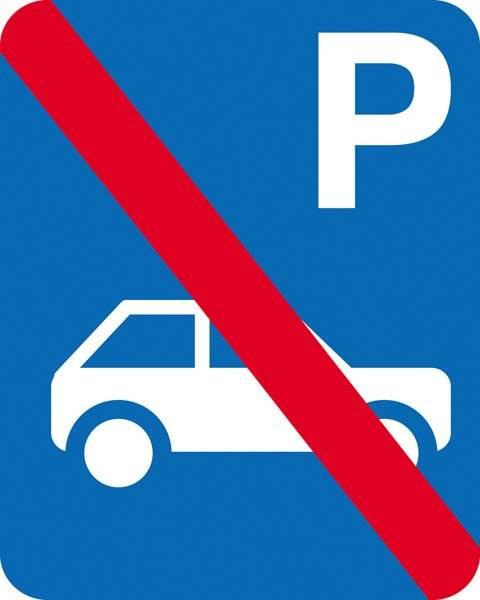 Parkerings skilt P bil fb skilt