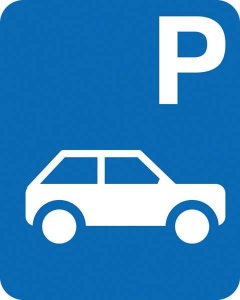 Parkerings skilt P bil skilt