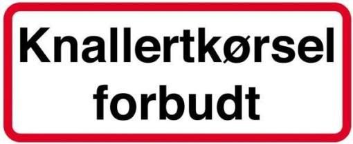 Knallertkørsel forbudt. Skilt