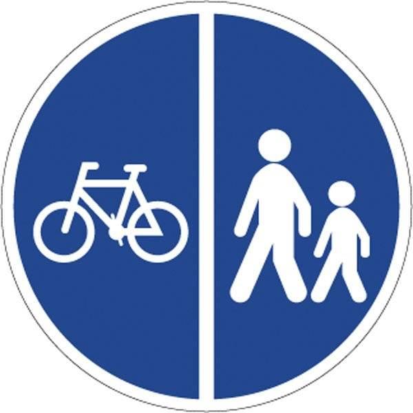 Cykel gangsti. Påbudsskilt