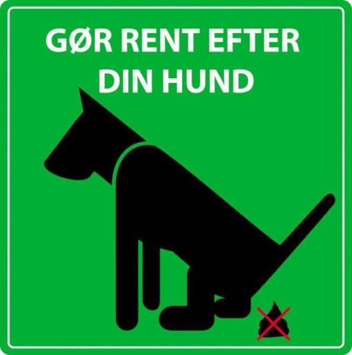 Gør rent efter din hund. skilt