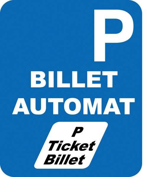 Parkerings skilt P Billetautomat skilt