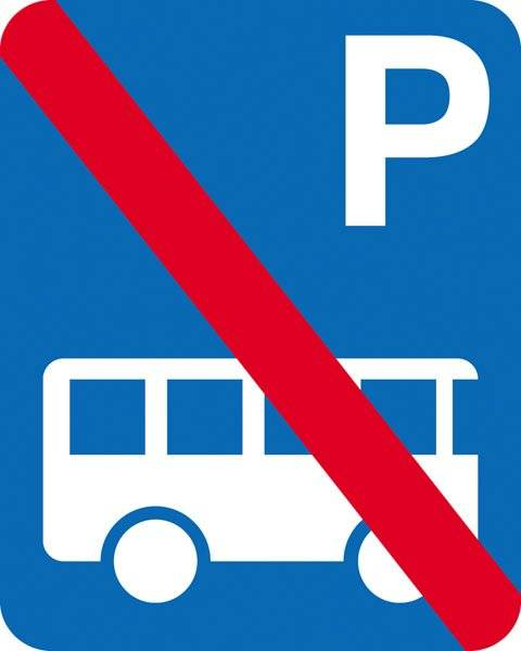 Parkerings skilt P bus forbudt skilt