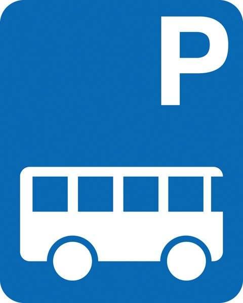 Parkerings skilt P bus skilt