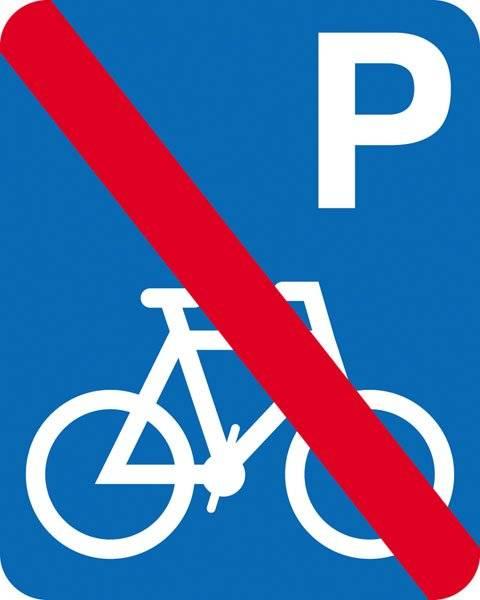 Parkerings skilt P cykel forbud skilt