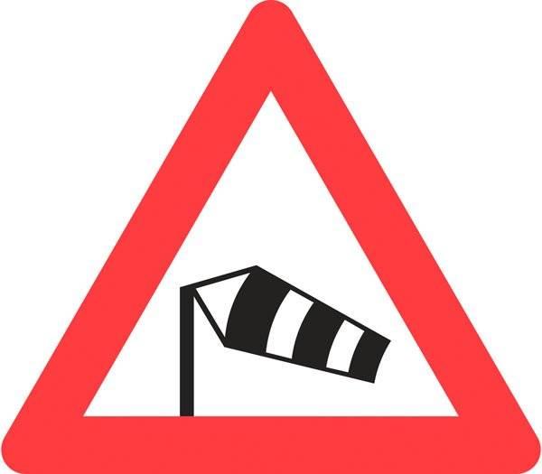 Advarselsskilt - Sidevind
