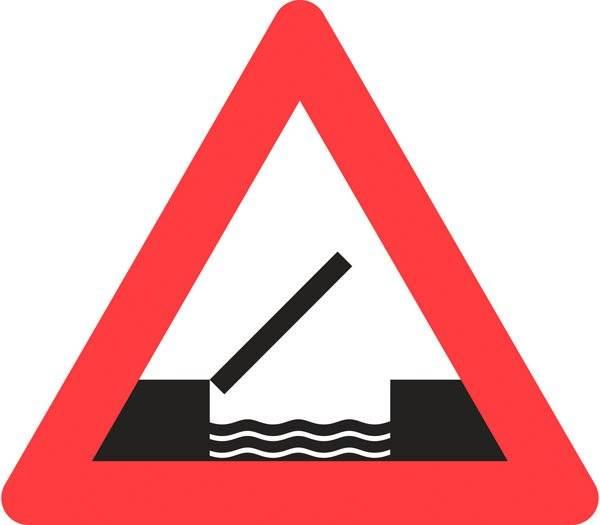 Advarselsskilt - Oplukkelig bro
