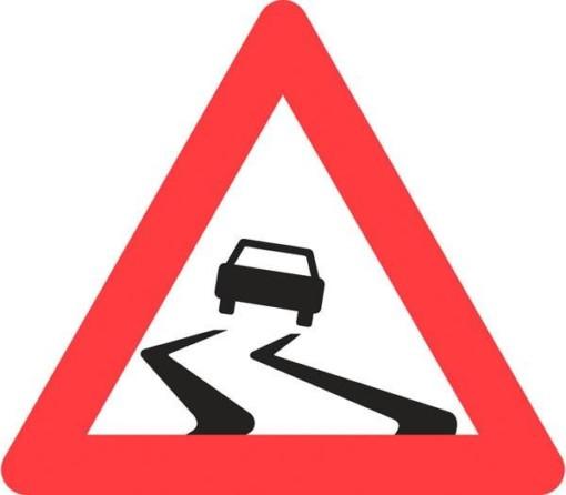 Advarselsskilt - Glat vej