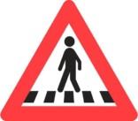 Advarselstrekant - Fodgængerfelt skilt