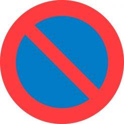 C62 Parkeringsforbud. Forbudsskilt