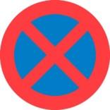 C61 Standsnings forbud. Forbudsskilt