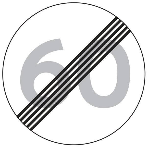 C56 Ophør af hastighedsbegrænsning. Skilt