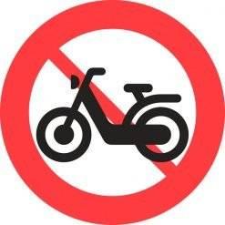 Knallertkørsel forbudt skilte