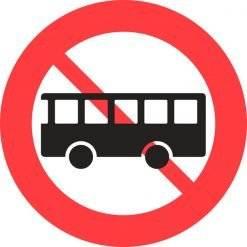 C23 bus forbudt. Skilt