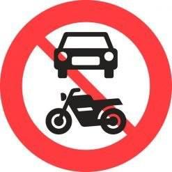 C22 Motorkøretøjer forbudt. Forbudsskilt