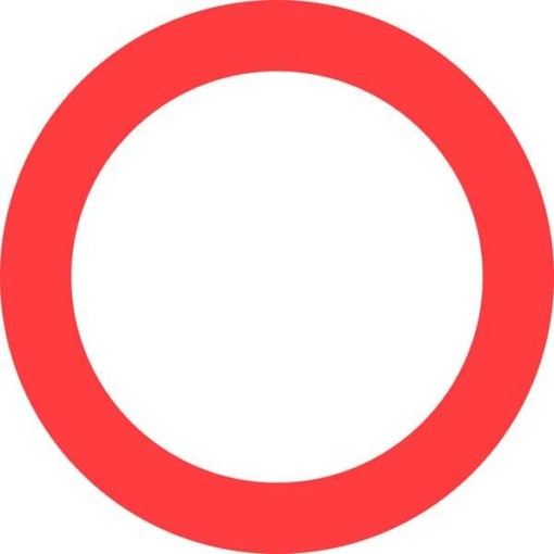 C21 Kørsel i begge retninger forbudt. skilt