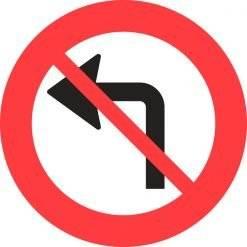 C11v Venstresving forbudt. skilt