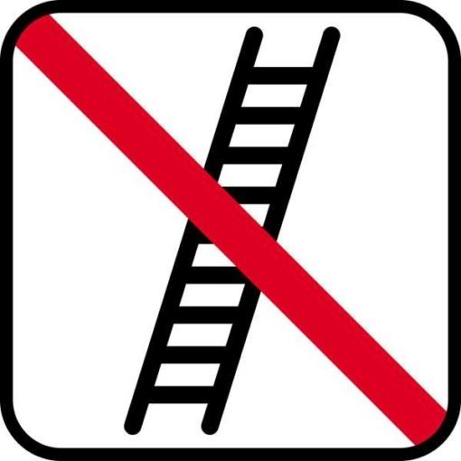 Stige forbud. - piktogram skilt