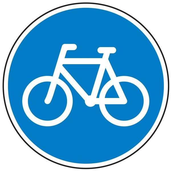 D21 Cykelsti. skilt