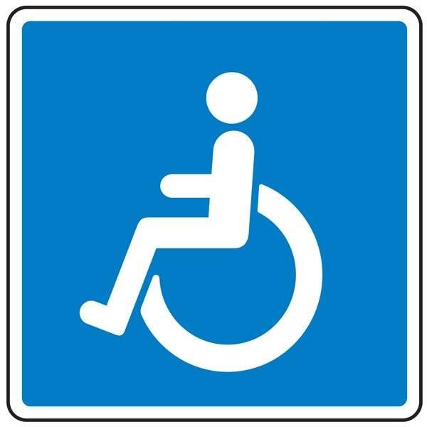 E23 Vejledning for invalide. Oplysningsskilt