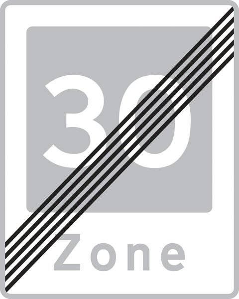 E54 Fartdæmpning ophører. skilt