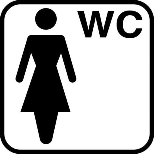 Damer WC piktogram skilt