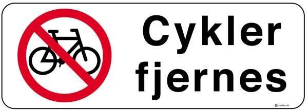 Cykel forbud cykler fjernes Skilt