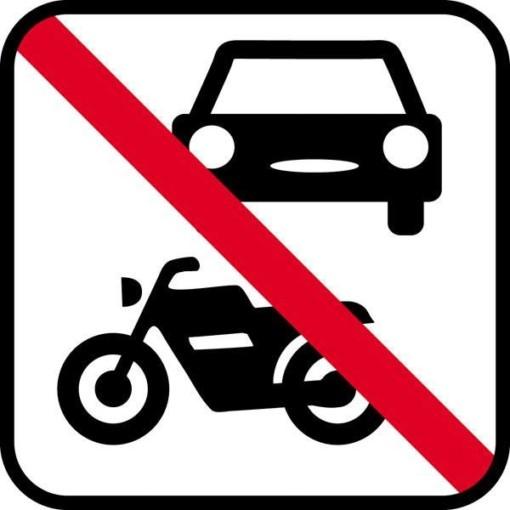 Motorkørsel forbudt - piktogram skilt