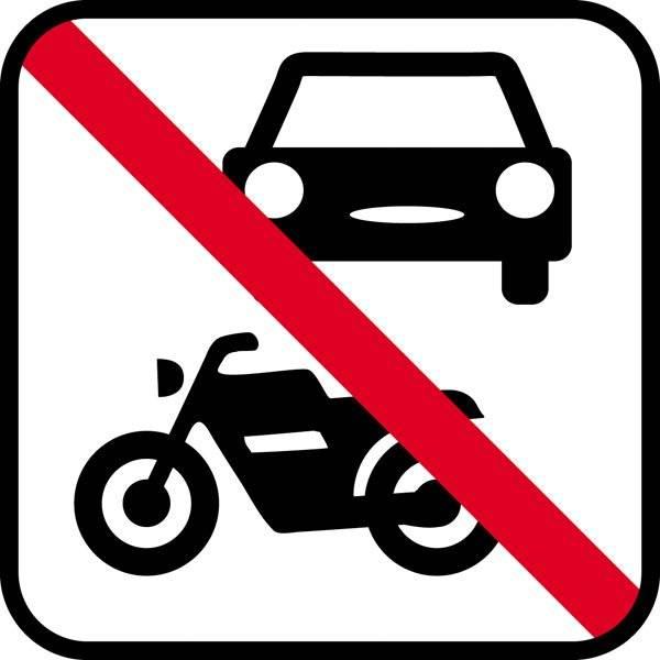 Køretøjer forbudt skilte
