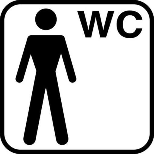 Herre WC piktogram skilt