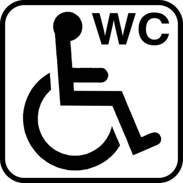 Handicap WC piktogram skilt