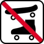 Skateforbud - piktogram skilt
