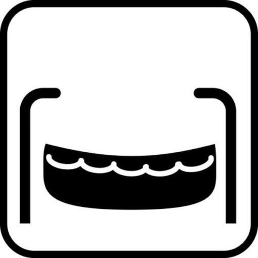 Redningsbåd - piktogram skilt