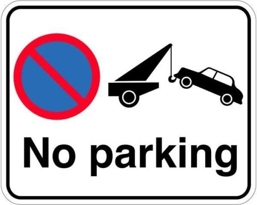 No parking. Skilt