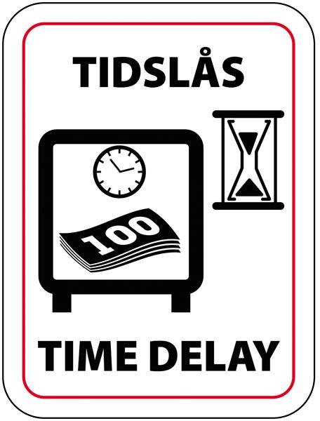 Tids lås skilt