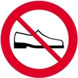 Sko forbudt Skilt