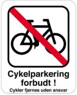 Parkerings skilt P cykel forbud.