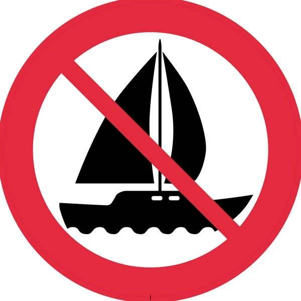 Båd Forbudskilt.