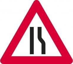 Advarselsskilt - Indsnævring i højre side